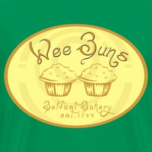 Bottlegreen Wee Buns Men's T-Shirts - Men's Premium T-Shirt