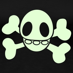 Glowing-Skully Girlie-Shirt - Frauen Premium T-Shirt