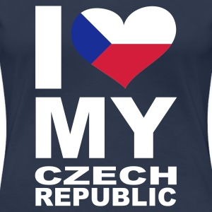 Navy I LOVE my Czech Republic - eushirt.com T-Shirts - Frauen Premium T-Shirt