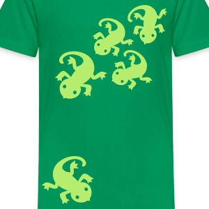 Kelly green gecko lizard leguan eidechse Kinder T-Shirts - Teenager Premium T-Shirt