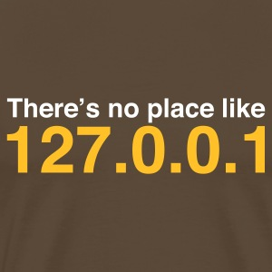 Marron Coder No Place Like Localhost (2c, NEU) T-shirts - T-shirt Premium Homme