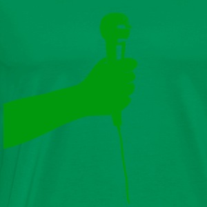 Bottlegreen microphone (green) Men's T-Shirts - Men's Premium T-Shirt