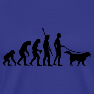 evolution_dog T-shirts - Mannen Premium T-shirt
