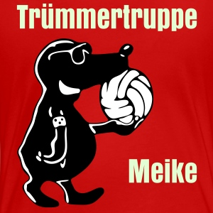 Rot Volleyball-Maulwurf T-Shirts - Frauen Premium T-Shirt