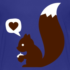 Cyan eichhörnchen squirrel loves nuts Kids' Shirts - Teenage Premium T-Shirt