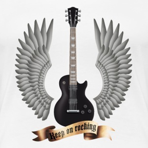 Weiß guitars_and_wings_black T-Shirts - Frauen Premium T-Shirt