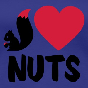Aqua i love nuts - squirrel Women's T-Shirts - Women's Premium T-Shirt