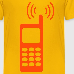 Gelb Handy – Telefon Kinder T-Shirts - Teenager Premium T-Shirt