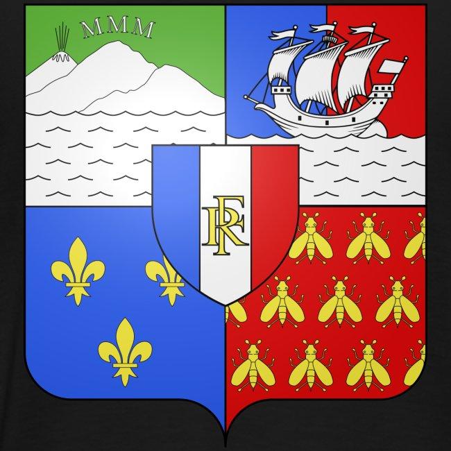 Les armoiries de la Réunion (version homme)