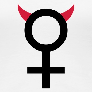 Weiß devil_woman_2c T-Shirts - Frauen Premium T-Shirt