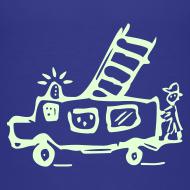 Motiv ~ Feuerwehr (glow in the dark) - Kinder T Shirt klassisch