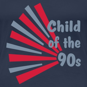 Azul vaquero Child of the 90s Camisetas - Camiseta premium mujer