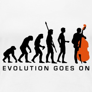 Weiß evolution_bass_2c_b T-Shirts - Frauen Premium T-Shirt