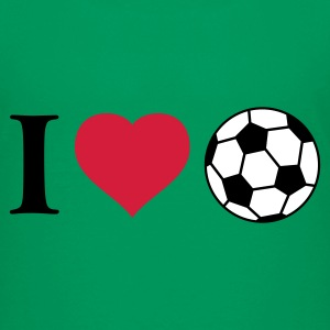 Kelly green ich_liebe_fussball_3c Kinder T-Shirts - Teenager Premium T-Shirt
