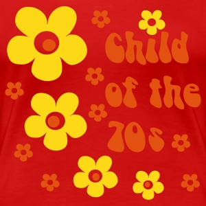 Red Child of the 70s Women's T-Shirts - Women's Premium T-Shirt