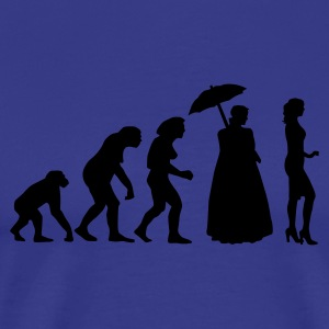Royalblau evolution_of_woman_b T-Shirts - Männer Premium T-Shirt