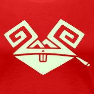 Design ~ Kiffender, leuchtender Hase (big) Girlie-Shirt