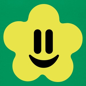 Kelly green flower power smiley Kinder T-Shirts - Teenager Premium T-Shirt