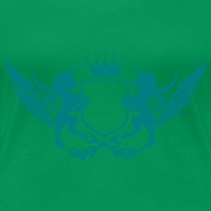 Kelly green einhornwappen T-Shirts - Frauen Premium T-Shirt