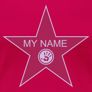 Hellrosa walk of fame + your name T-Shirts - Frauen Premium T-Shirt