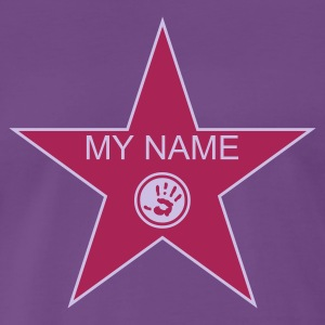 Indigo walk of fame + your name T-Shirts - Mannen Premium T-shirt