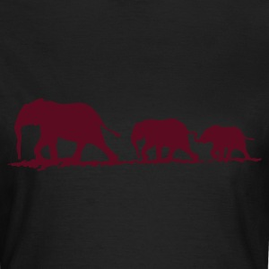 Elephant family - Frauen T-Shirt