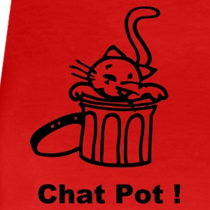 Rouge chat-pot T-shirts - T-shirt Premium Femme