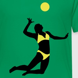 beachvolleyball_woman_2c T-shirts - Teenager premium T-shirt