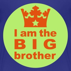 Türkis I am the Big Brother Kinder T-Shirts