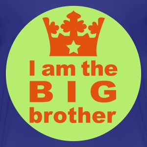 Türkis I am the Big Brother Kinder T-Shirts - Teenager Premium T-Shirt
