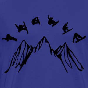 Snowboard mountain - Men's Premium T-Shirt