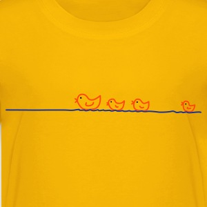 Gelb ducks Kinder T-Shirts - Teenager Premium T-Shirt
