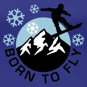 snowboard_mountains_e_3c T-Shirts - Women's Premium T-Shirt