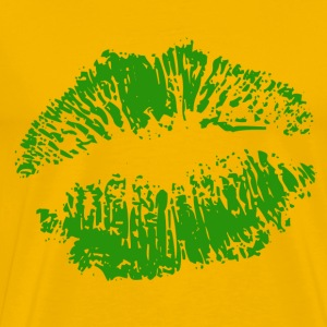Yellow Irish Lips Men's T-Shirts - Men's Premium T-Shirt