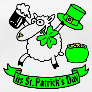 st_patricks_sheep_white_b T-Shirts - Women's Premium T-Shirt