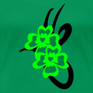 Kelly green St. Patrick's tribal tattoo - Women's Premium T-Shirt