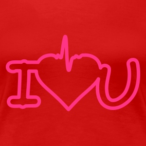 Rouge i love you T-shirts - T-shirt Premium Femme