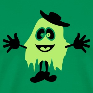 Mosgrøn ghost with hat (2c) T-shirts - Herre premium T-shirt