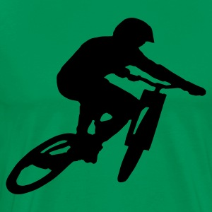 Downhill Mountainbike Shirt - Mannen Premium T-shirt
