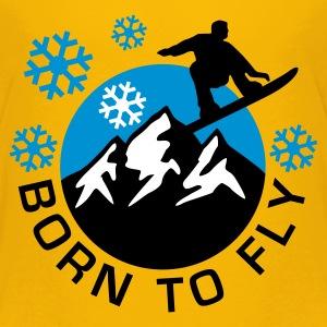 snowboard_mountains_b_3c Shirts - Teenage Premium T-Shirt