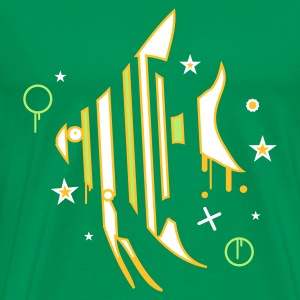 Moss green Fish Men's T-Shirts - Men's Premium T-Shirt
