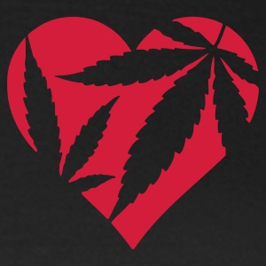 Chocolate Cannabis / Marijuana Hemp Love Heart Women's T-Shirts - Women's T-Shirt