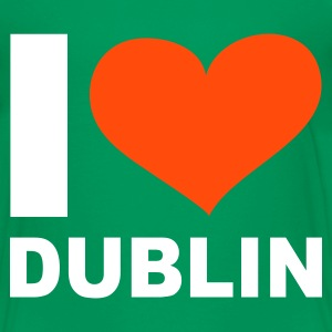 Kelly green I LOVE Dublin ( Ireland ) - eushirt.com Kinder T-Shirts - Teenage Premium T-Shirt