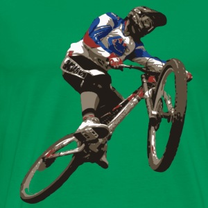 Mountainbike Downhill T-Shirt - Mannen Premium T-shirt