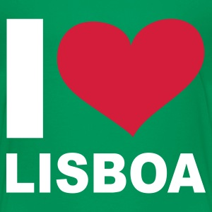 Kelly green I LOVE Lisboa ( Portugal ) - eushirt.com Kinder T-Shirts - Teenage Premium T-Shirt