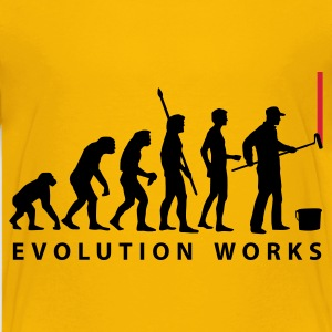 Gelb evolution_maler_a2_2c Kinder T-Shirts - Teenager Premium T-Shirt