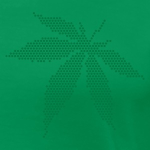 Grass green Cannabis / Marijuana Leaf (rasterized / spotted) Women's T-Shirts - Women's Premium T-Shirt
