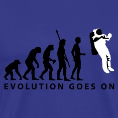 evolution_astronaut_b_2c T-Shirts
