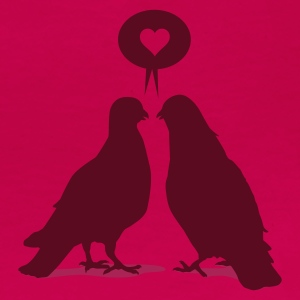 Hellrosa Love saying Doves - Two Birds_2c T-Shirts - Frauen Premium T-Shirt