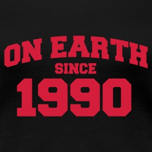 Sort onearth1990 T-shirts - Dame premium T-shirt